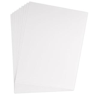 Feuille bristol 205g 50x65 quadrillé 5x5 blanc