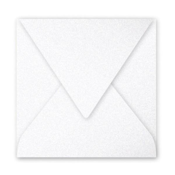 Pollen Enveloppe 140x140 blanc irisé paquet de 20 - Photo n°1