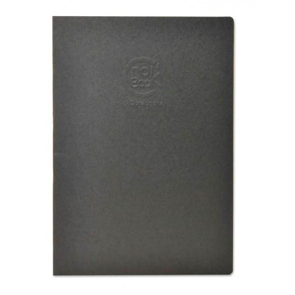 Crok'book carnet piqué 90g 17x22 noir - Photo n°1