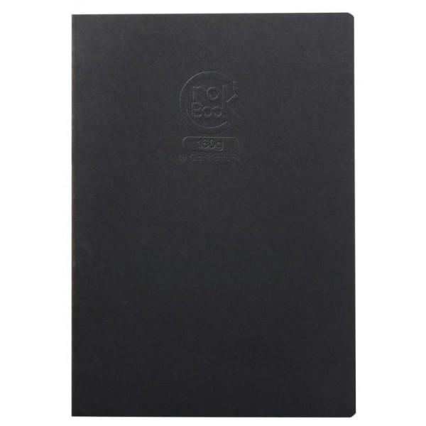 Crok'book carnet piqué 160g a3 noir - Photo n°1