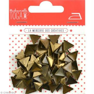 Clou thermocollant 3D triangle - Bronze - 8 mm x 100