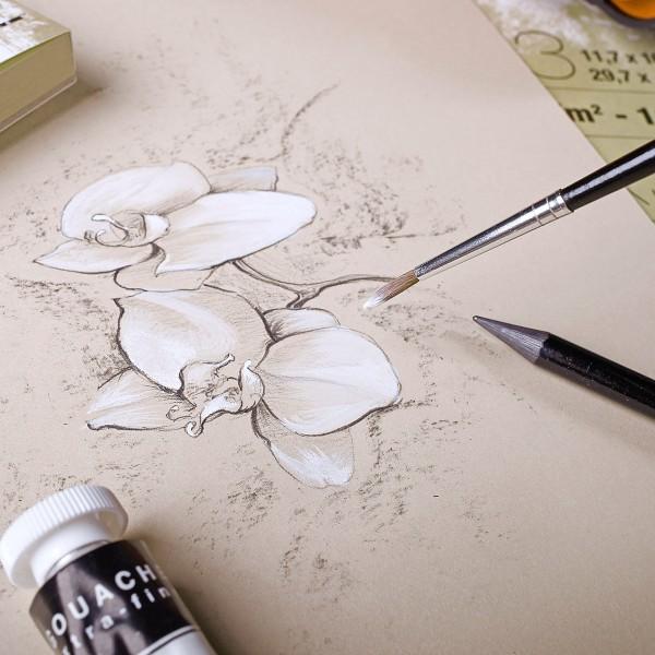 Bloc Papier multi-techniques Paint'On A5 250 g - Naturel - 30 feuilles - Photo n°2