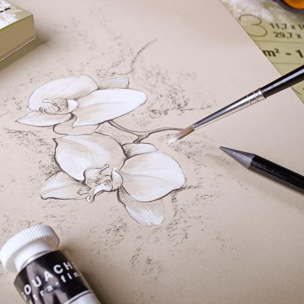 Bloc Papier multi-techniques Paint'On A4 250 g - Naturel - 30 feuilles - Photo n°2
