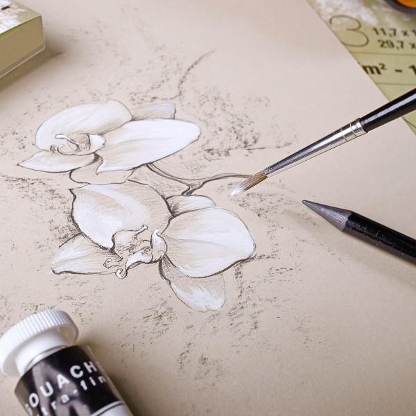 Bloc paint'on encollé a3 30f 250g naturel - Photo n°2