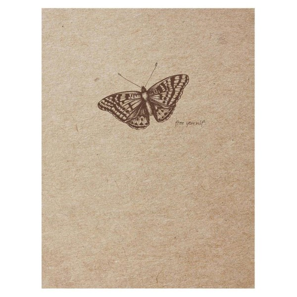 Flying spirit carnet cousu 16x21 ivoire 120p kraft - Photo n°4