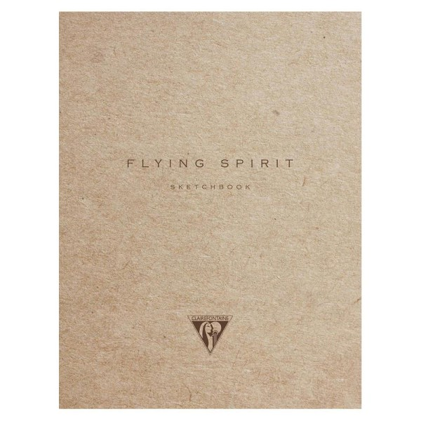 Flying spirit carnet cousu 16x21 ivoire 120p kraft - Photo n°1