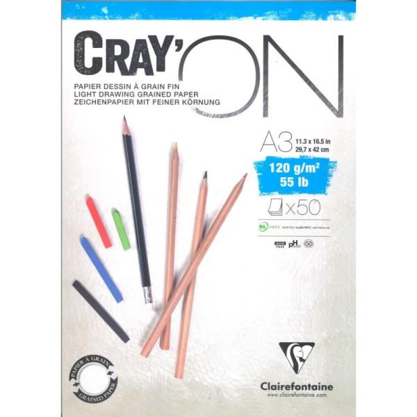 Bloc cray'on encollé a3 50f 120g - Photo n°1