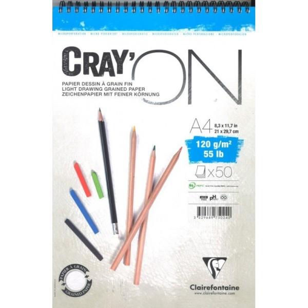 Bloc cray'on spiralé A4 50f 120g - Photo n°1