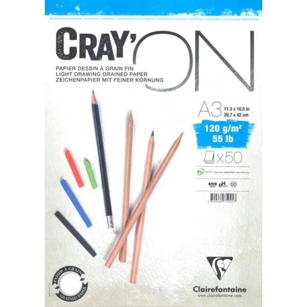 Bloc cray'on spiralé a3 50f 120g - Photo n°1