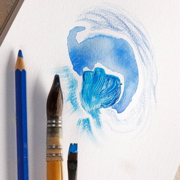 Bloc paint'on à grain encollé A5 20f 250g blanc - Photo n°2