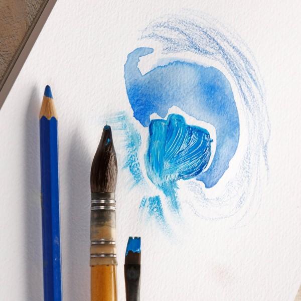 Bloc Papier à grain multi-techniques Paint'On A4 250 g - Blanc - 20 feuilles - Photo n°2