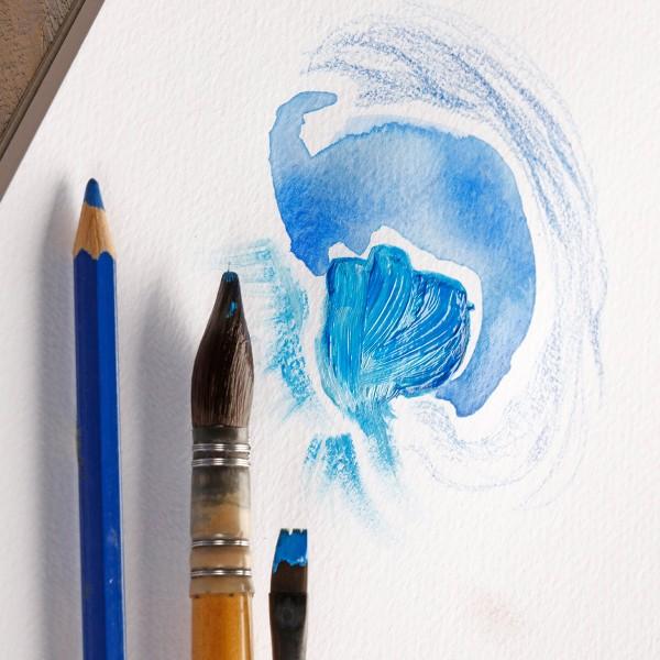 Bloc Papier à grain multi-techniques Paint'On A3 250 g - Blanc - 20 feuilles - Photo n°2