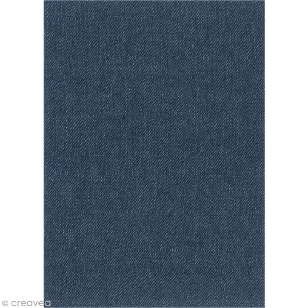 Tissu thermocollant A5 - Jean bleu marine - Photo n°2
