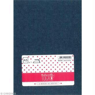 Tissu thermocollant A5 - Jean bleu marine