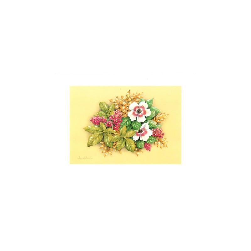 Image 3d - astro 526 - 24x30 - bouquet 2 fleurs blanches - Photo n°1