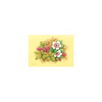 Image 3d - astro 526 - 24x30 - bouquet 2 fleurs blanches
