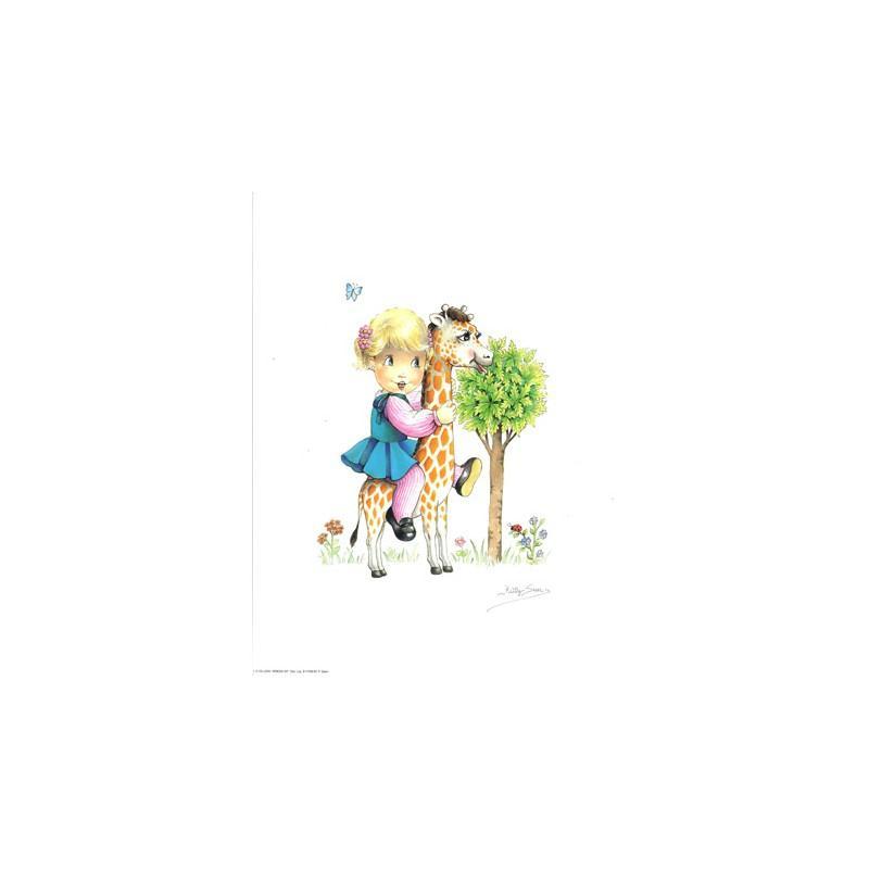 Image 3D - venezia 207 - 24x30 - petite fille sur girafe - Photo n°1