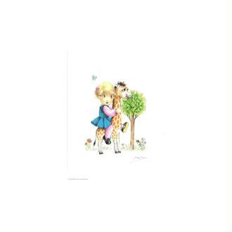Image 3d - venezia 207 - 24x30 - petite fille sur girafe