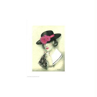 Image 3d - venezia 168 - 24x30 - femme chapeau