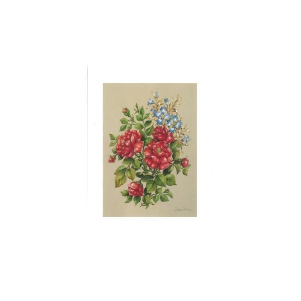 Image 3D - astro 508 - 24x30 - bouquet rouge et bleu - Photo n°1