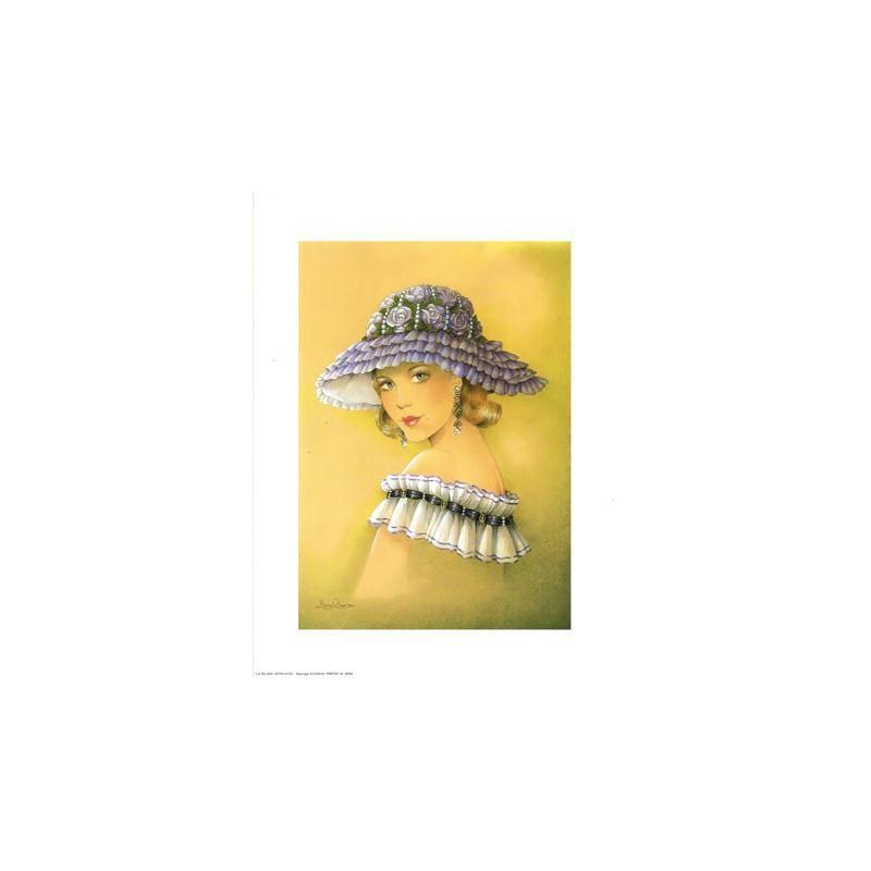 Image 3D - astro 376 - 24x30 - femme chapeau - Photo n°1