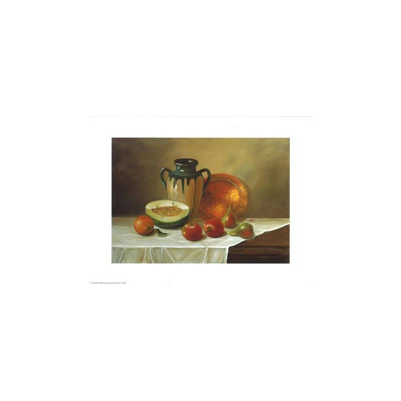 Image 3D - astro 349 - 24x30 - fruits et assiette en cuivre - Photo n°1