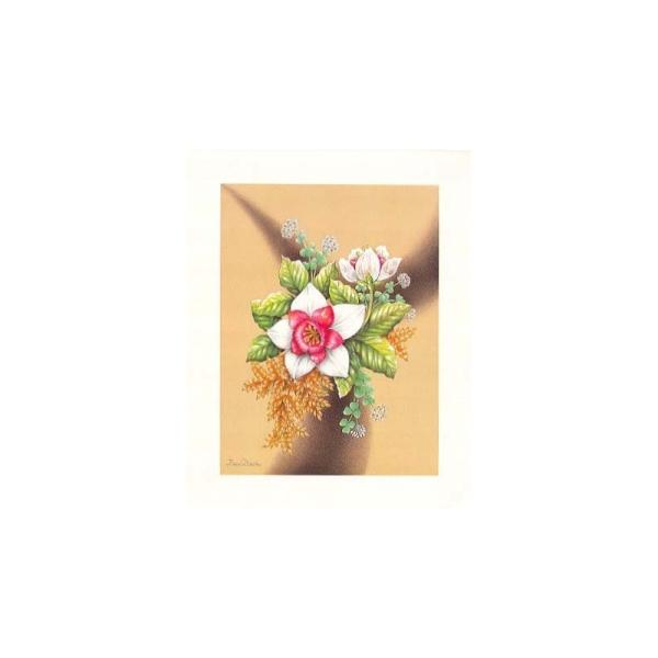 Image 3D - astro 461 - 24x30 - bouquet de fleurs rose et blanc - Photo n°1