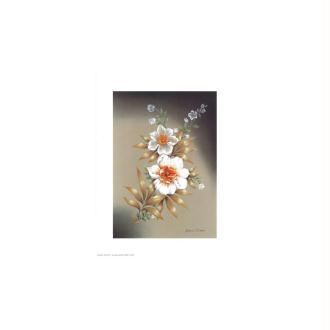 Image 3d - astro 110 - 24x30 - 2 fleurs blanches