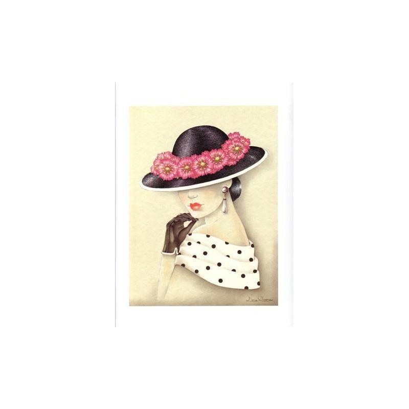 Image 3d - venezia 204 - 24x30 - femme chapeau - Photo n°1