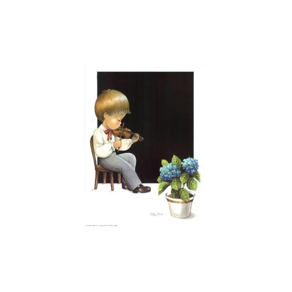 Image 3D - astro 163 - 24x30 - garcon au violon - Photo n°1