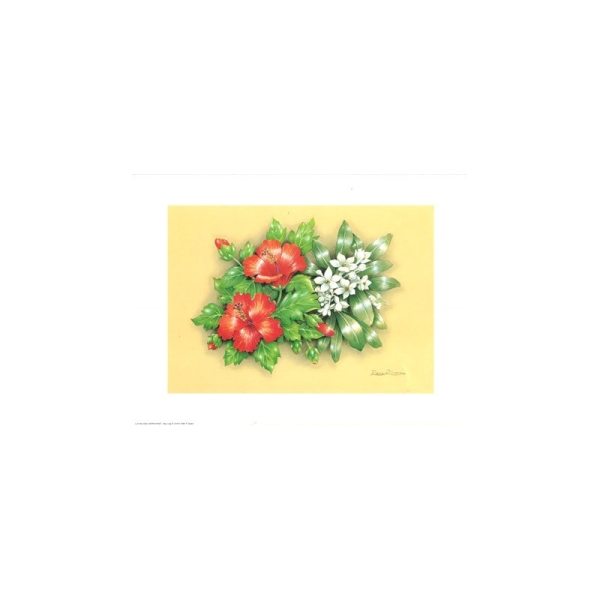 Image 3D - astro 527 - 24x30 - bouquet 2 fleurs rouge - Photo n°1