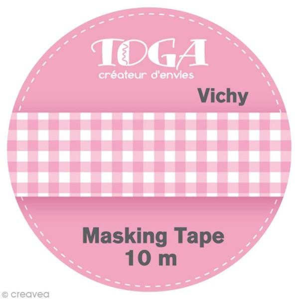 Masking tape Toga - Vichy rose x 10 m - Photo n°2