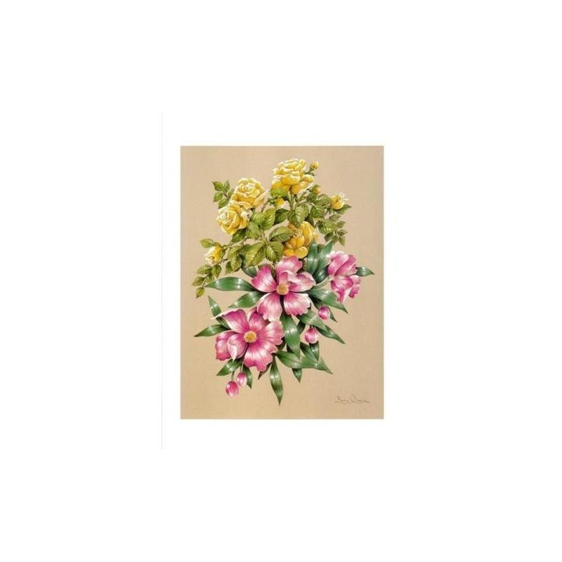 Image 3D - astro 506 - 24x30 - bouquet rose et jaune - Photo n°1