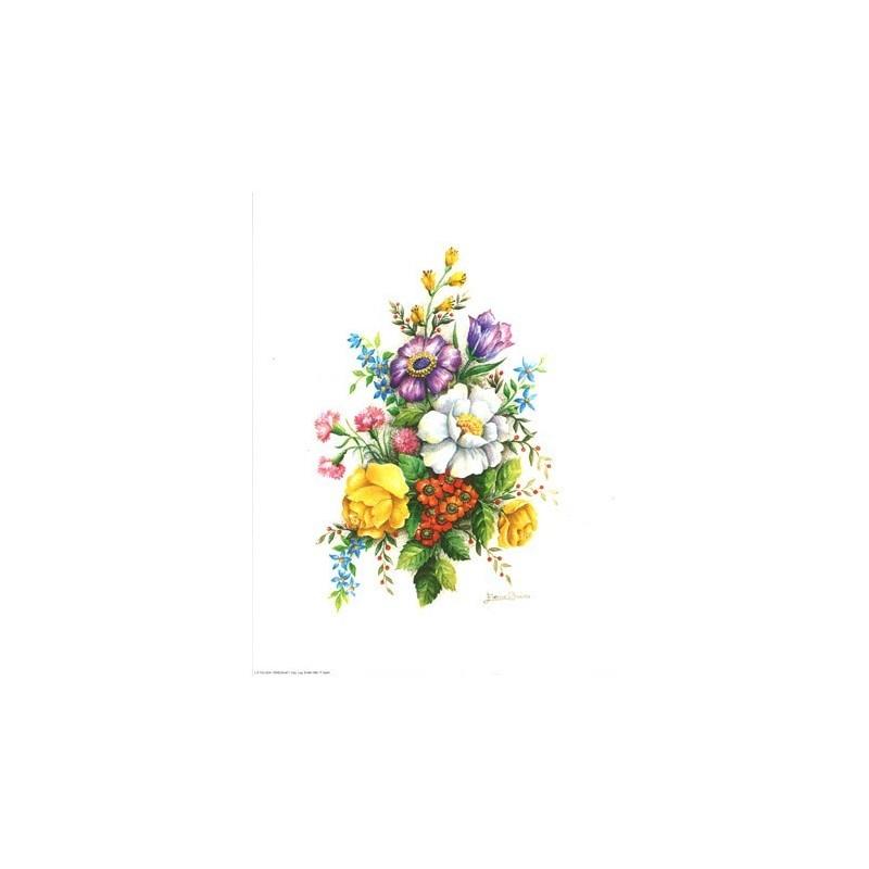 Image 3d vem 07 - 24x30 - bouquet blanc/violet - Photo n°1