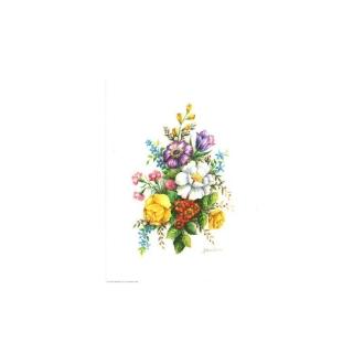 Image 3d vem 07 - 24x30 - bouquet blanc/violet