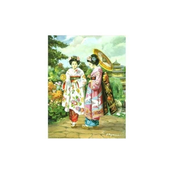 Image 3D - 800843 - 20x25 - chinoises et bouquet - Photo n°1