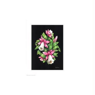 Image 3d - astro 543 - 24x30 - bouquet clochettes fond noir