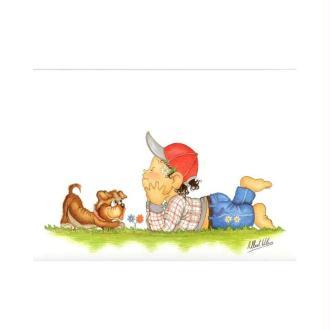 Image 3d - venezia 269 - 24x30 - garçon allongé avec chien