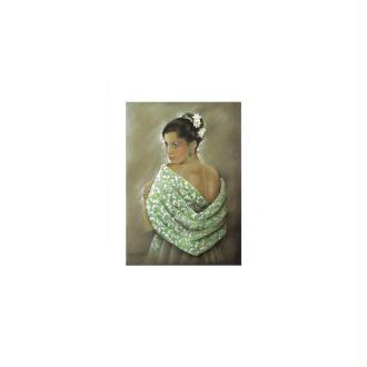 Image 3d - astro 428 - 24x30 - femme chale vert
