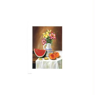 Image 3d - astro 371 - 24x30 - pastèque et bouquet