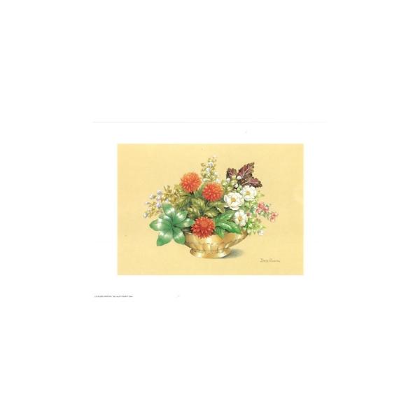 Image 3D - astro 518 - 24x30 - coupe dorée fleurs rouges - Photo n°1