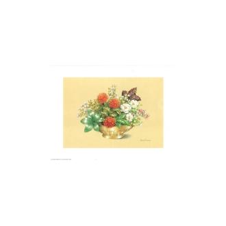 Image 3d - astro 518 - 24x30 - coupe dorée fleurs rouges