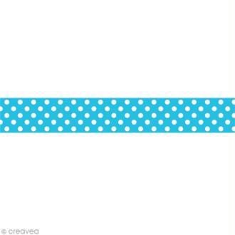 Masking tape Toga - Bleu à pois blanc x 10 m