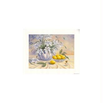 Image 3d - 9107033 - 24x30 - fleurs et citrons
