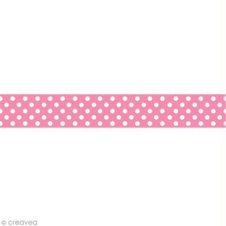 Masking tape Toga - Rose à pois blanc x 10 m