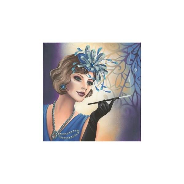 Image 3D - gk3030082 - 30x30 - femme charleston bleu - Photo n°1