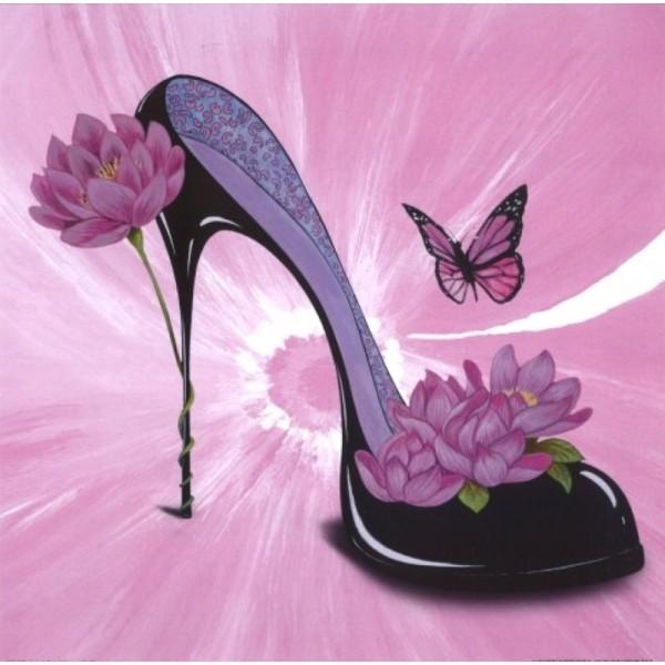 Image 3D - ncn 4967 - 30x30 - chaussure fleurie - Photo n°1