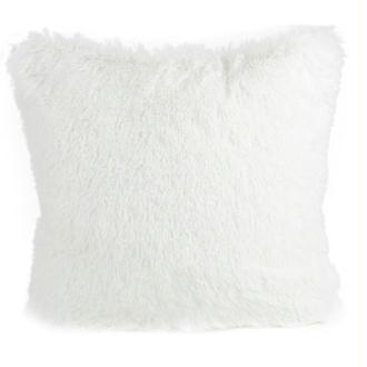 Coussin thro chubby blanc 50x50 cm