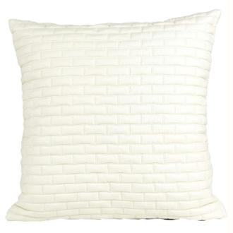 Coussin thro tribecca blanc 50x50 cm