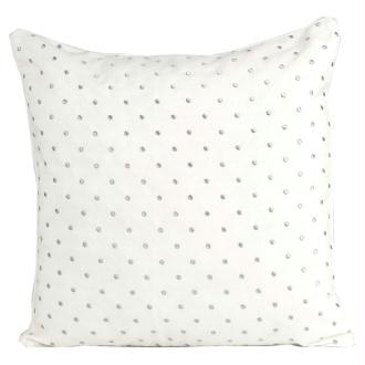 Coussin thro davis dot blanc 50x50 cm